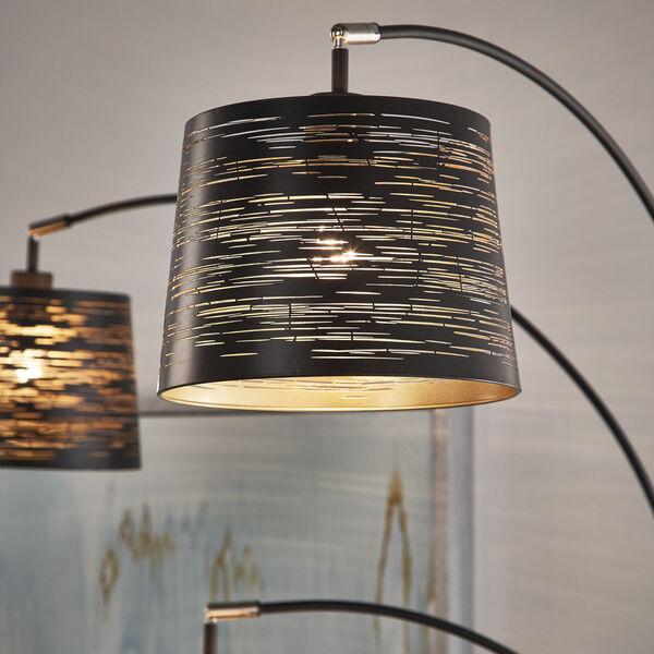 Mori Black Three-Light Tree Floor Lamp, image 3